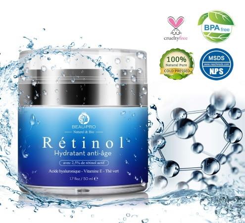 Crème contre vieillissement BEAU PRO rétinol top3