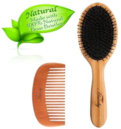 Peigne à cheveux HAIRBY soie de sanglier top3 bambou naturel