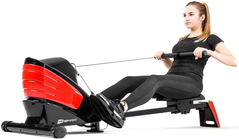 Rameur pliable HOP SPORT d'appartement fitness machine à ramer HS-060R