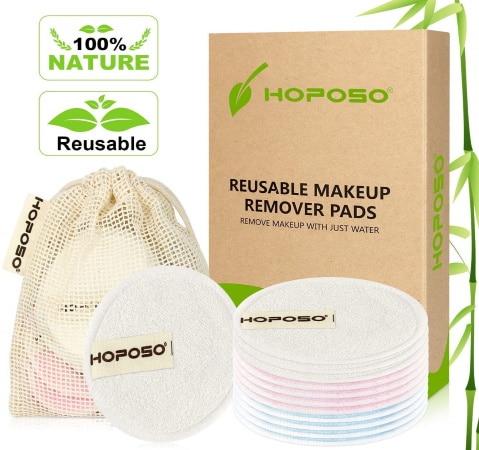 Disque de démaquillage réutilisable HOPOSO lavable top 4