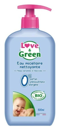 Eau nettoyante LOVE AND GREEN bébé top3