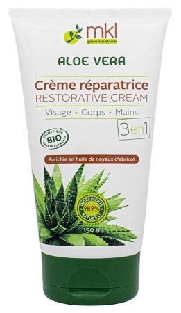 Crème réparatrice mains bio aloe vera MKL GREEN NATURE corps visage TOP 4