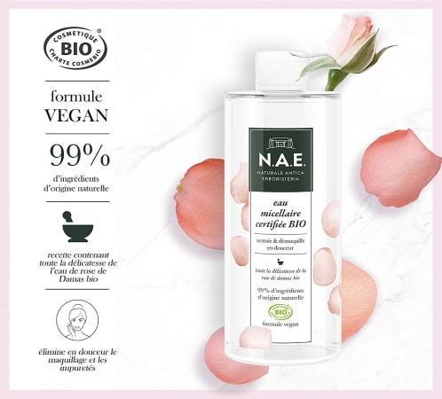 Eau nettoyante NAE certifiée BIO vegan top3