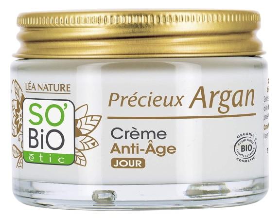Crème contre vieillissement So'Bio Étic huile d'argan top3