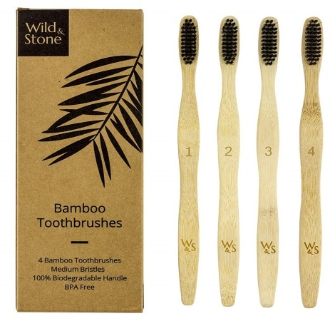 Brosse à dents naturelle bambou WILD AND STONE top 3