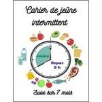 Carnet pour jeûne intermittent avec sui 210 jours, soit 28 semaines, donc environ 7 mois, pour noter et suivre vos heures de repas, plage horaire santé