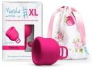 Cup menstruelle flux abondant féminin MERULA XL, en finir avec les tampons jetables et serviettes périodiques, pour faire économies car réutilisable et lavable