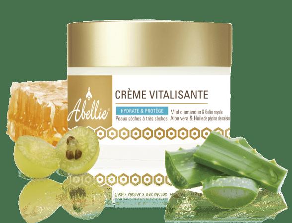 Crème hydratante visage bio à la gelée royale, miel d'amandier, aloe vera, et huile de pépins de raisin top5