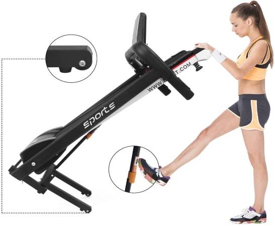 Déplacement tapis de course à pied pour rangement sans prendre de place sport appartement fitness top7