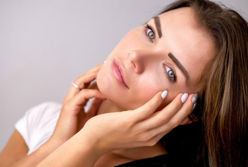 Femme peau visage