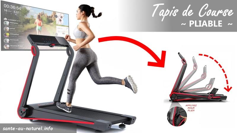 Meilleurs tapis de course pliables pour faire du sport à la maison ou au bureau et pouvoir le ranger facilement sous le lit ou dans un coin top7