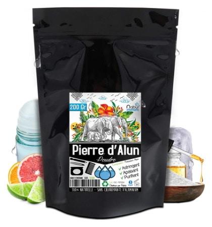 Pierre d'alun poudre astringent, apaisant, et purifiant NABUR top5