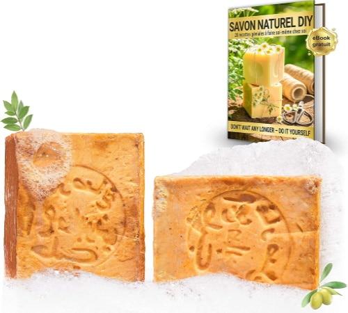 Savon alep naturel huile de laurier à 20%, et 80% huile olive, naturel ph8, pour les mains, sous la douche, et les cheveux, santé au quotidien