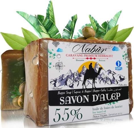 Savon d'alep visage NABUR 55% d'huile de baie de laurier top5