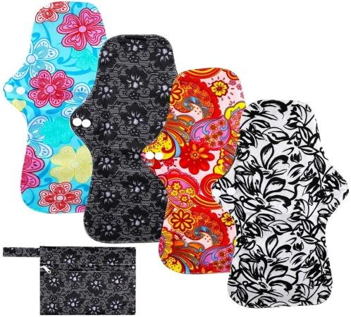 Serviette hygiénique lavable XXL pour la nuit ou après accouchement post-partum en charbon de bambou serviette menstruelle top5