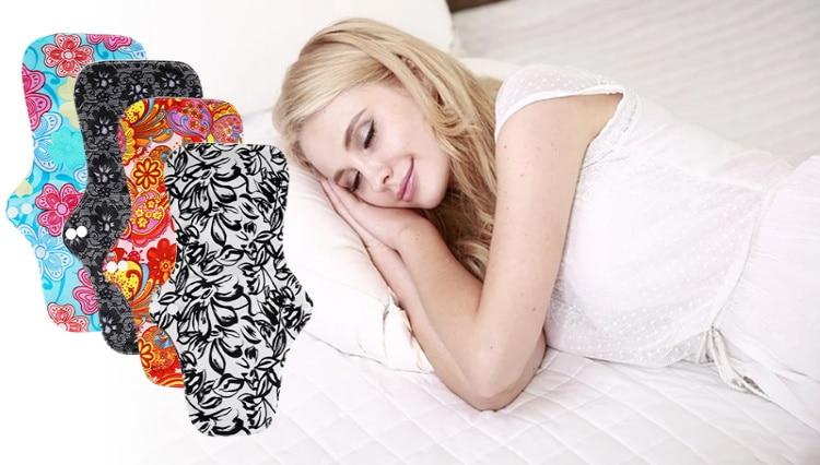 Serviette hygiénique réutilisable femme pour la nuit ou post-partum après accouchement culotte menstruelle règles périodiques top5