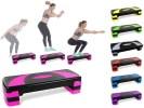 Stepper horizontal fitness maison, réglable en hauteur, pour faire aérobic et sport chez soi, exercice steps pour travail muscles des jambes top3