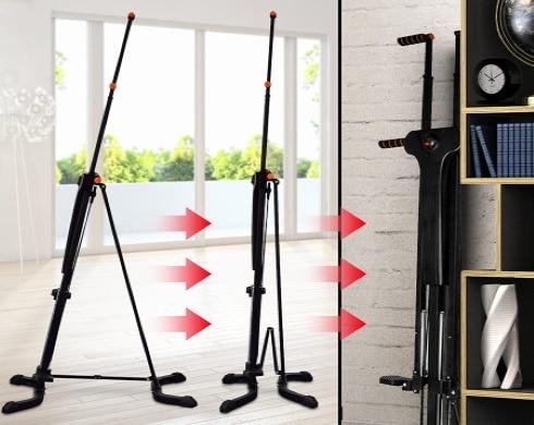Stepper maison avec guidon facile à ranger car pliable, idéal pour faire du sport chez soi, exercices cardio et fitness, travail abdos, fessier, et jambes top3