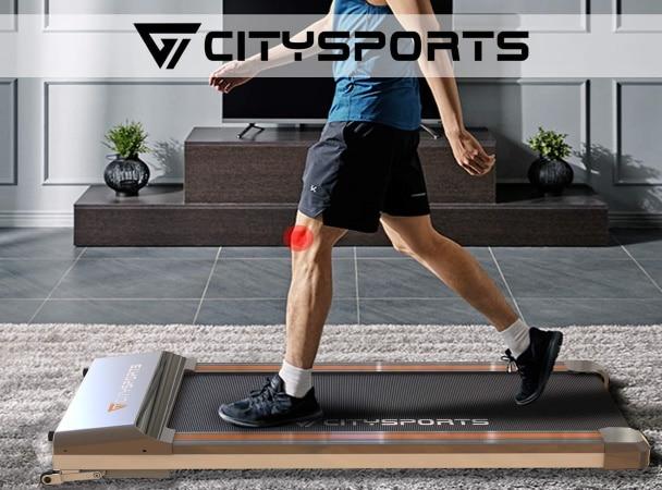 Tapis de course à pied extra plat CITYSPORTS électrique facile à ranger sous le lit encombrement réduit motorisé top7