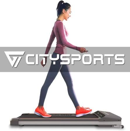 Tapis roulant de course pliable extra plat CITYSPORTS WP1 rangement sous le lit car pas épais pour sport à la maison avec écran LCD top7