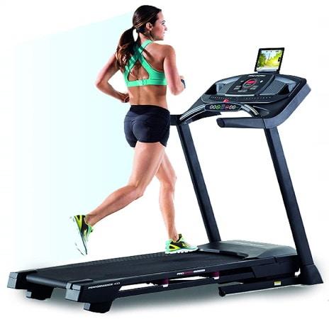 Tapis roulant de course pliable PROFORM 400i solide compatible iFit avec système inclinaison robuste fitness sport maison top7