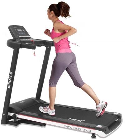 Tapis roulant de course pliable solide ISE SY-T2702 tapis de marche électrique avec exercices de sport fitness semi-pro top7
