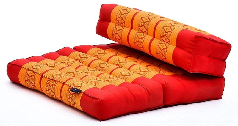 Tapis de méditation pliable avec siège, coussin confortable épais pour méditer confortablement, tapis rembourré kapok pour méditation assis