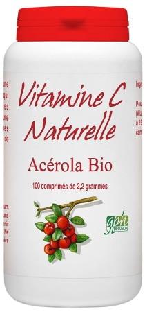 Vitamine C naturelle Acérola BIO comprimé complément alimentaire pour bienfaits système immunitaire santé top4