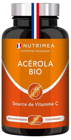 Vitamine C naturelle BIO haute dose acérola réduction de la fatigue, renforcer son système immunitaire, vegan fabrication française top4